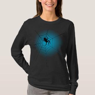 T-shirt Halloween a hanté l'araignée noire sur le Web