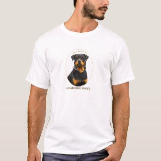 T-shirt halo de rottweiler d'ange gardien