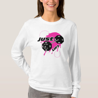 T-shirt Haltérophilie Hoody d'ascenseur de dames juste