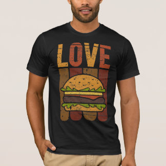 T-shirt Hamburger d'amour