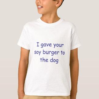 T-shirt Hamburger de soja de BBQ