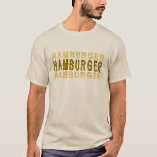T-shirt Hamburger de typographie