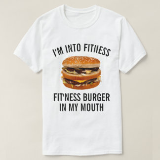 T-shirt Hamburger drôle de forme physique