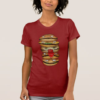T-shirt Hamburger rouge !