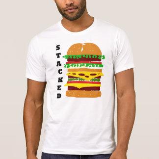 T-shirt Hamburger triple empilé