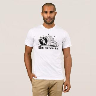 T-shirt hamburgers blancs de tour