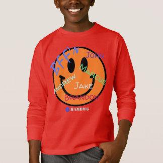 T-shirt HAMbWG - le Jersey - BFF Emoji souriant bleu