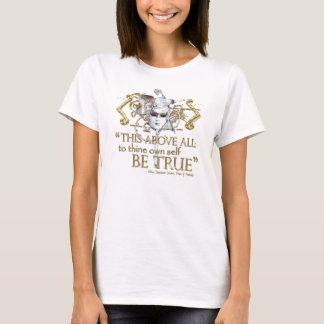 """T-shirt Hamlet """"posséder l'individu soit"""" citation vraie"""