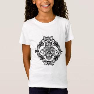 T-Shirt Hamsa avec le griffonnage ethnique d'ornements
