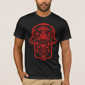 T-shirt Hamsa floral (rouge)
