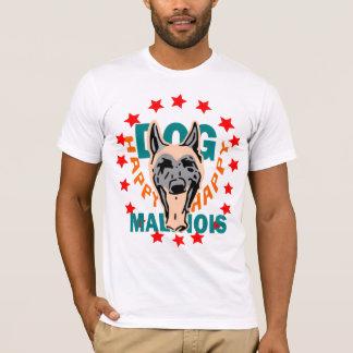 t-shirt happy dog malinois