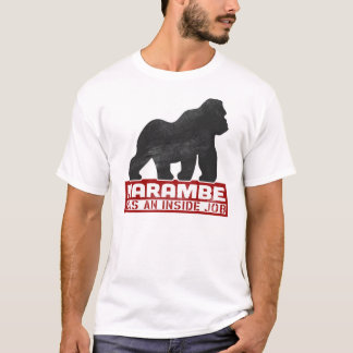 T-shirt Harambe était un gorille 2016 du travail intérieur