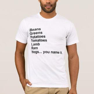 T-shirt Haricots, verts, pommes de terre, tomates…