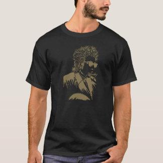 T-shirt Harmonica et guitare classiques de roche de Dylan