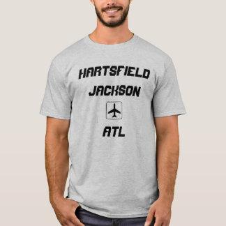 T-shirt Hartsfield Jackson code d'aéroport d'Atlanta, la