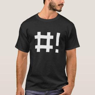 T-shirt Hashbang - chemise noire pour la ligne de commande