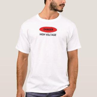 T-shirt Haute tension de danger