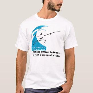 T-shirt Hawaï de enseignement à clôturer, une personne