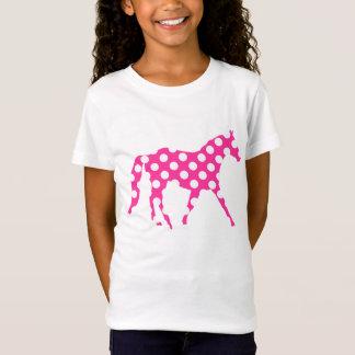 T-Shirt Hawaïen de pois rose de cheval beau Aloha