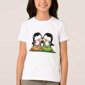T-shirt hawaïen de sonnerie de filles de danse