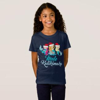 T-Shirt Hawaïen mignon de Noël de sirène de Mele