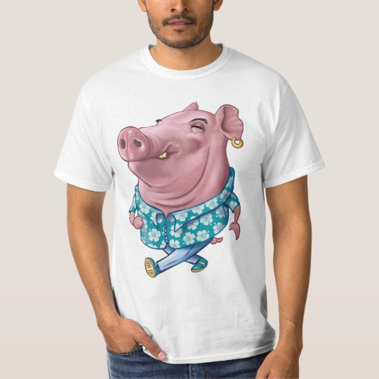 T-shirt Hawaiian Pig