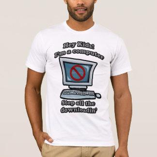 T-shirt Hé enfants ! Im un ordinateur