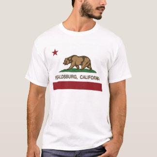 T-shirt healdsburg de drapeau de la Californie