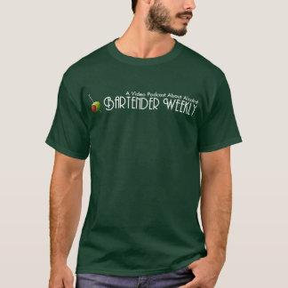 T-shirt hebdomadaire de logo de barman