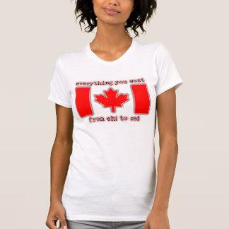 T-shirt Hein ! à la fierté de Canadien de chemise de Zed