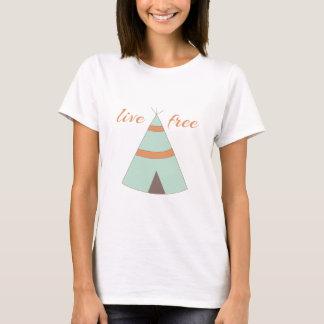 T-shirt Héritage indien d'honneur avec un teepee doux