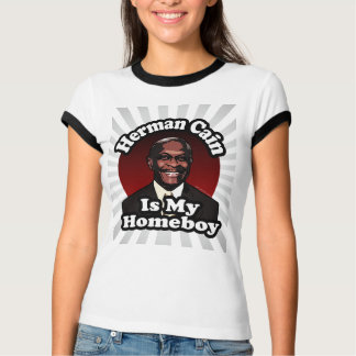T-shirt Herman Caïn est mon Homeboy, rétro style