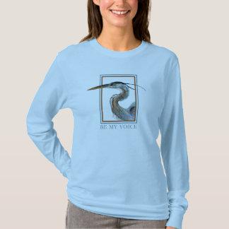 T-shirt Héron de grand bleu par Jane Freeman