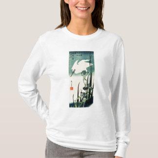 T-shirt Héron et iris blancs
