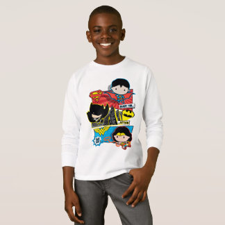T-shirt Héros de Chibi prêts pour l'action !