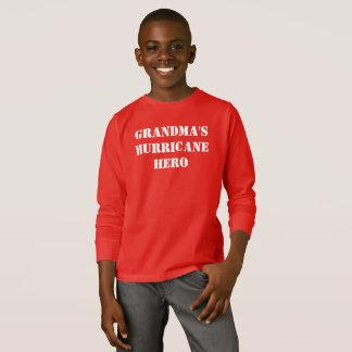 T-shirt Héros de l'ouragan de la grand-maman