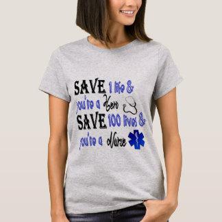 T-shirt Héros d'infirmière