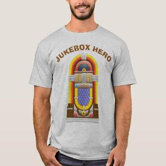 T-shirt Héros vintage de juke-box du lecteur de musique |