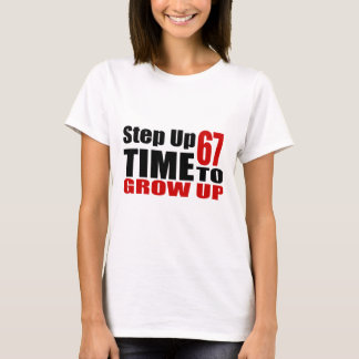 T-shirt Heure 67 de grandir des conceptions d'anniversaire