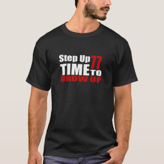 T-shirt Heure 77 de grandir des conceptions d'anniversaire