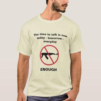 T-shirt Heure de parler du contrôle des armes