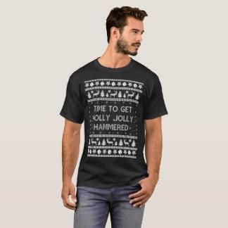 T-shirt Heure d'obtenir le chandail très martelé de houx