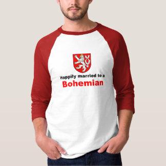 T-shirt Heureusement marié à un bohémien
