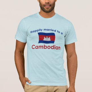 T-shirt Heureusement marié à un Cambodgien
