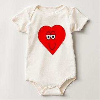 T-shirt heureux de coeur de bébé