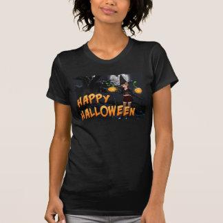 T-shirt heureux de femmes de Halloween Skye