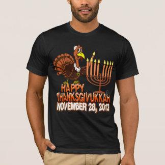 T-shirt heureux de Hanoukka de thanksgiving de