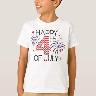 T-shirt heureux de la jeunesse 4 juillet