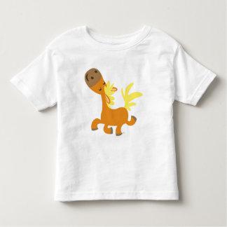 T-shirt heureux d'enfants de poney de bande