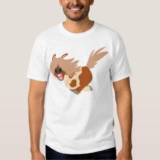 T-shirt heureux d'enfants de poney de Pinto de